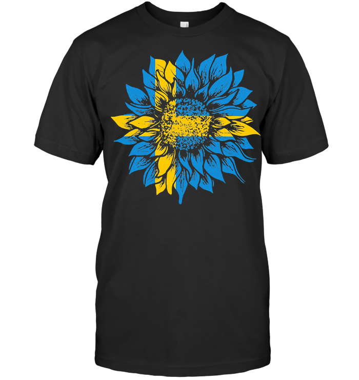 Sunflower Sweden Flag T Shirt