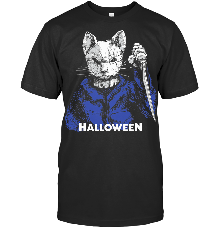 Cat Horror Killer Halloween T Shirt