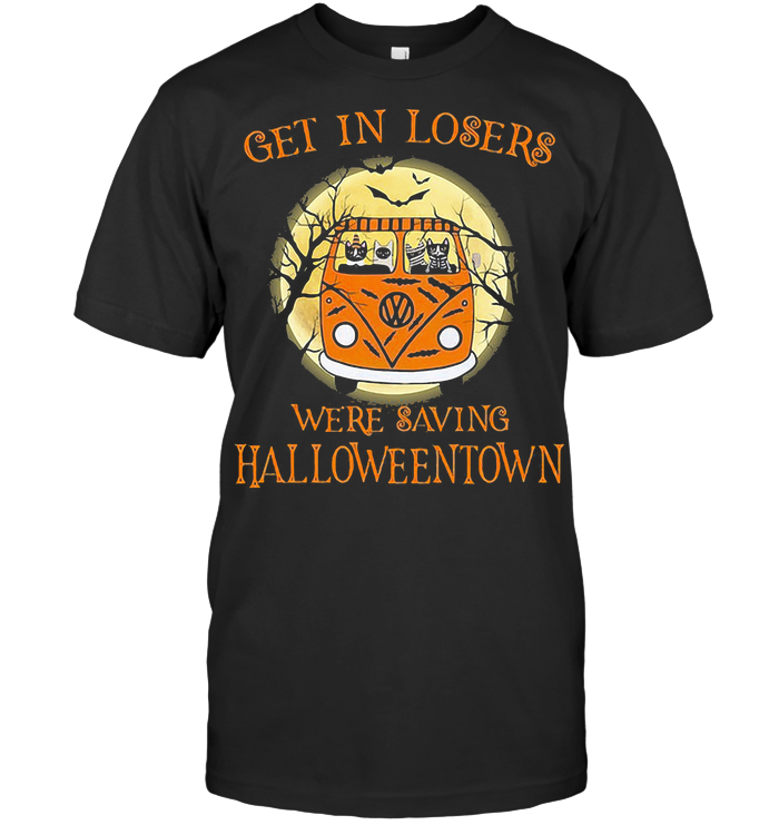Bus Peace Cats Get In Losers We're Saving Halloweentown T Shirt - from birthstonedeals.info 1