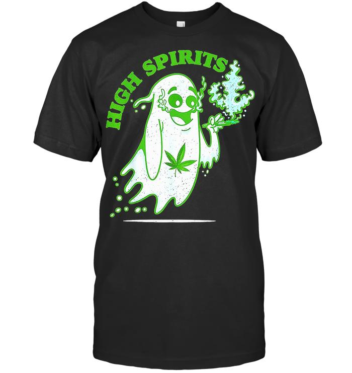 High Spirits Boo Smoke Weed T Shirt