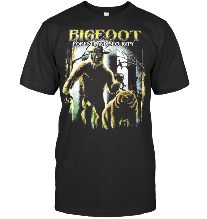 Bigfoot Forestland Security Graphic T Shirt