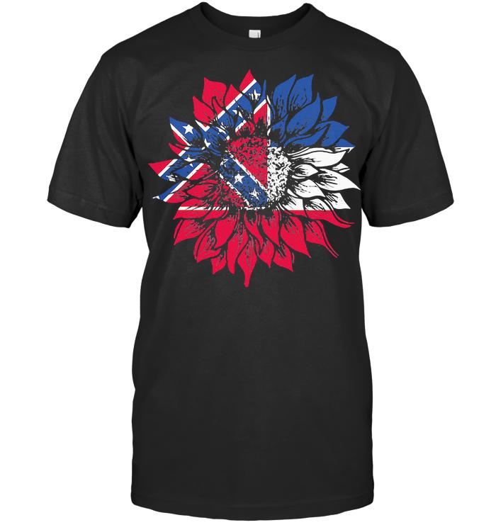 Sunflower Mississippi Flag T Shirt