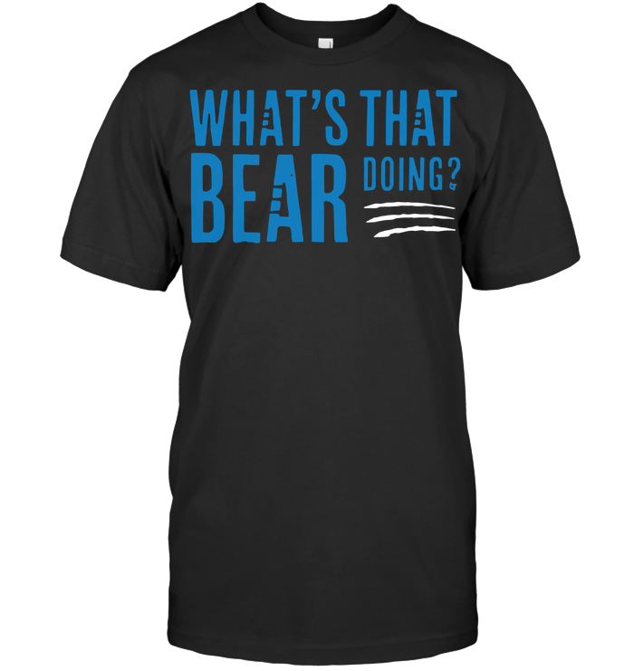 What's That Bear Doing Football T Shirt