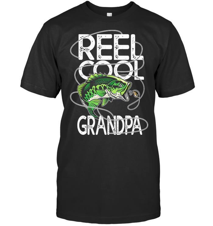 Fishing Reel Cool Grandpa T Shirt