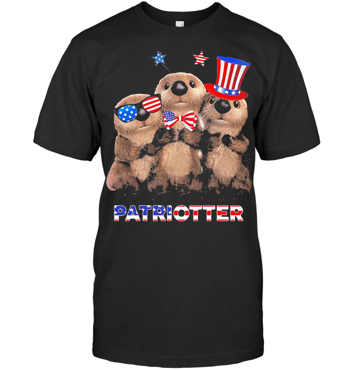Otter America Flag Patriotter Independence Day T Shirt