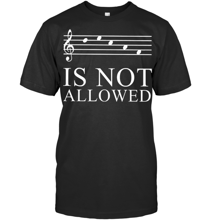 Decaf Is Not Allowed Music Note T Shirt