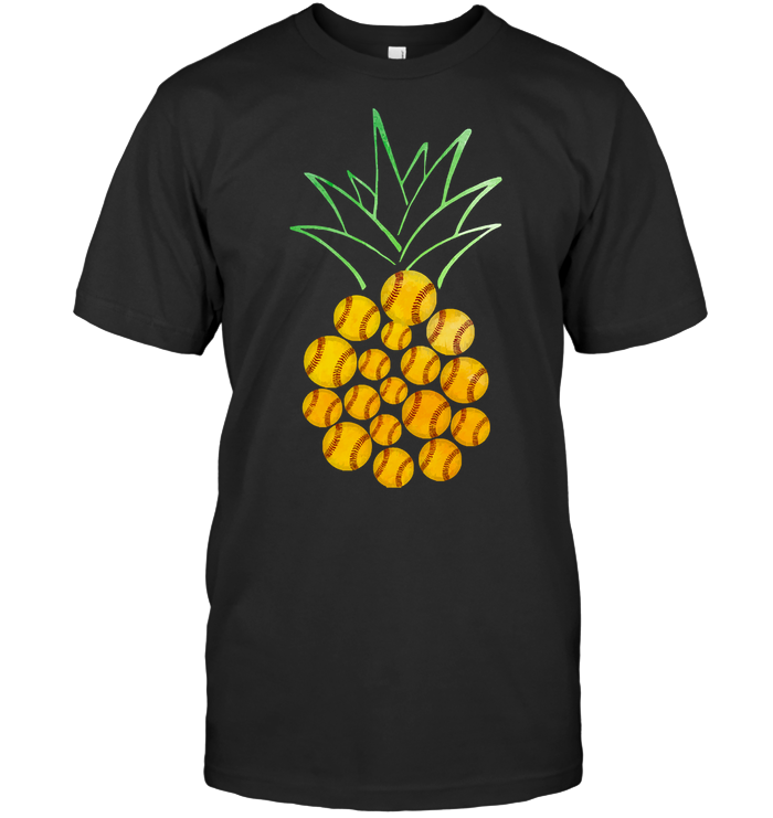 Funny Baseball Pineapple T Shirt