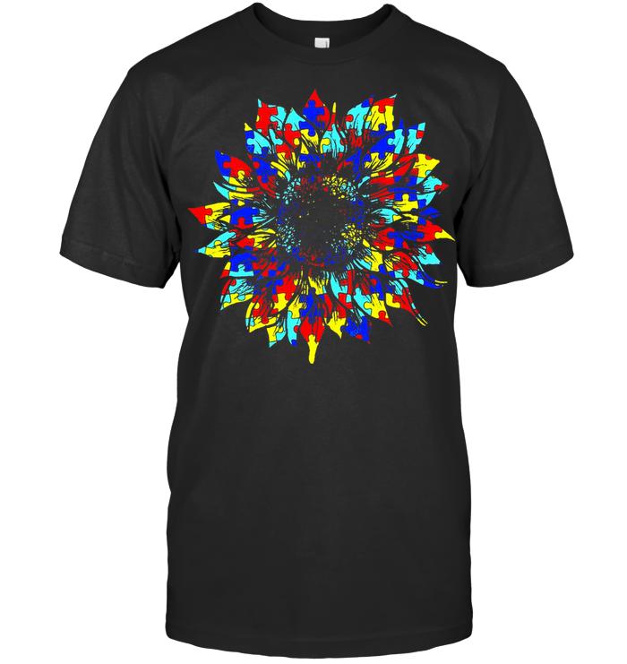 Autism Sunflower T Shirt