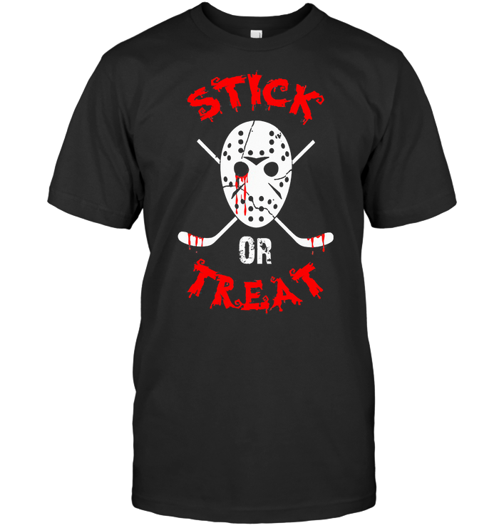 Stick Or Treat Hockey Halloween T Shirt
