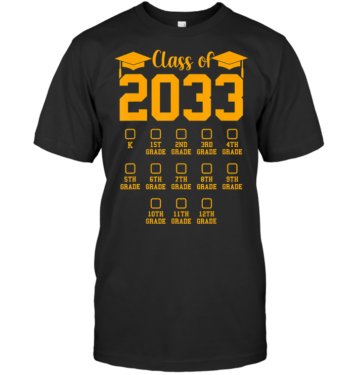 Class Of 2033 Grow With Me T Shirt
