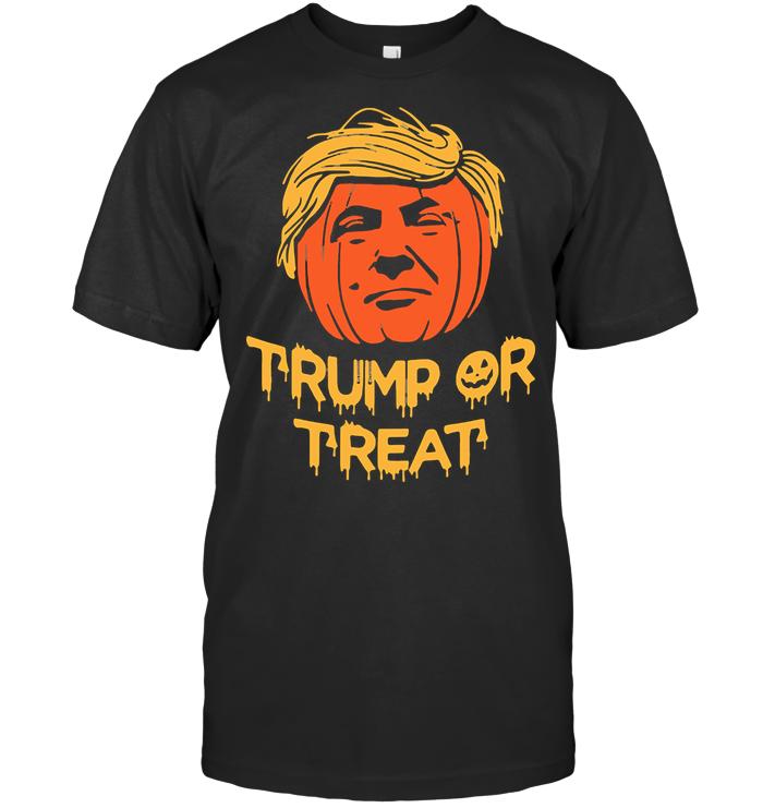 Hallowen Trump Or Treat Pumpkin T Shirt