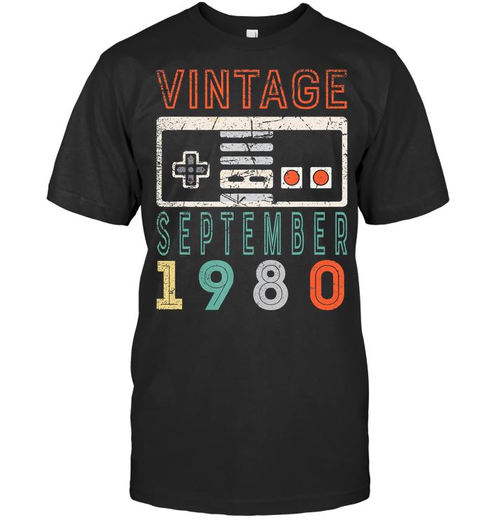 Vintage September 1980 40Th Birthday Cassette T Shirt