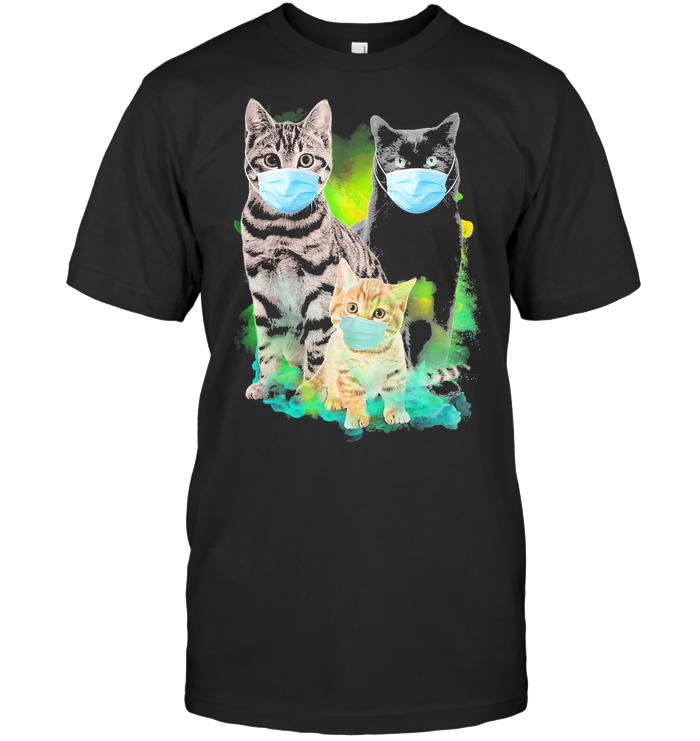 Cats Wear Medical Mask Covid 19 T Shirt