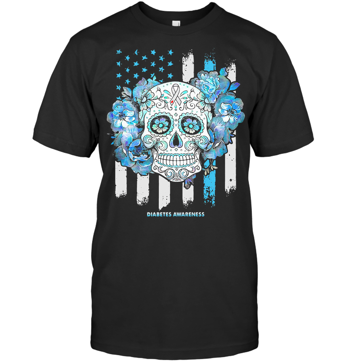 Independence Day Festival Of Death Skull Diabetes Awareness T Shirt