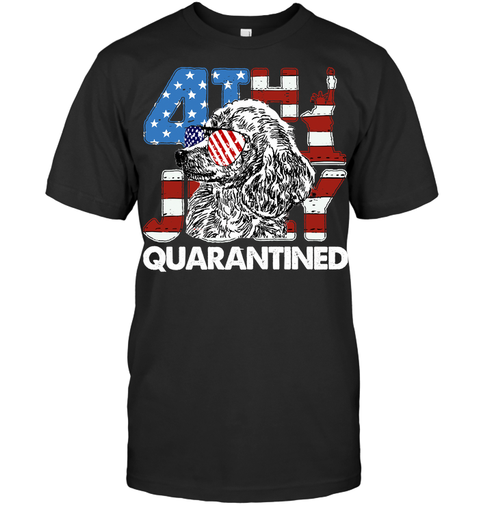 Poodles 4Th Of July Merica Quarantined Gifts Funny T Shirt Unisex