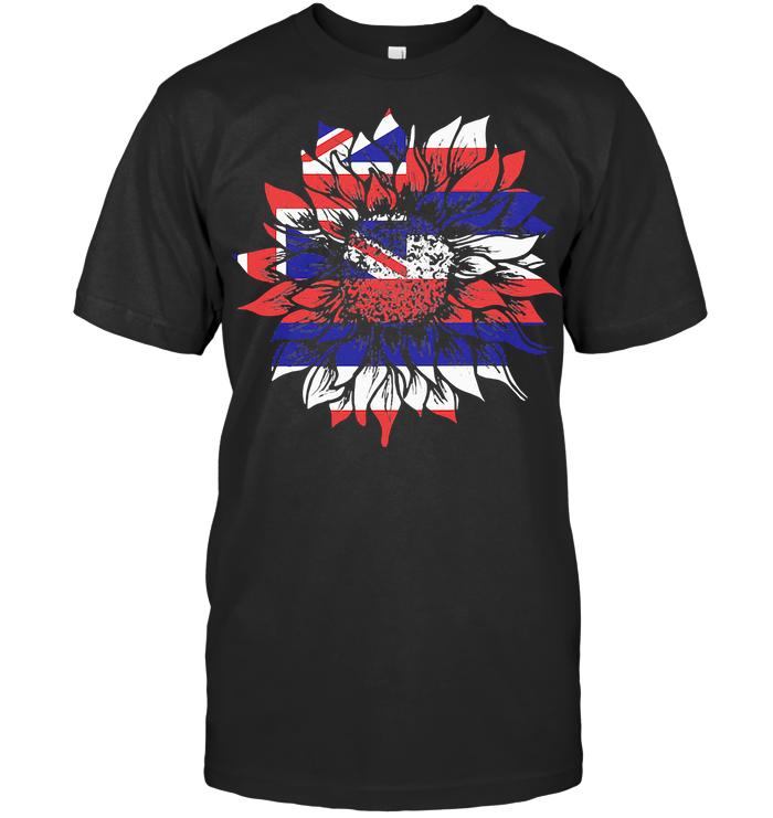 Sunflower Hawaii Flag T Shirt