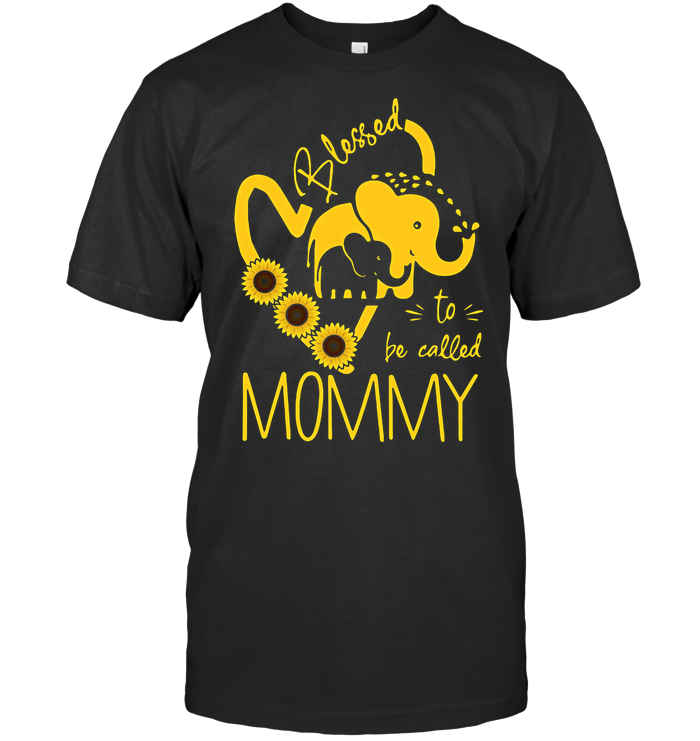 Elephant Sunflower Blessed To Be Called Mommy T Shirt - from hostingrocket.info 1