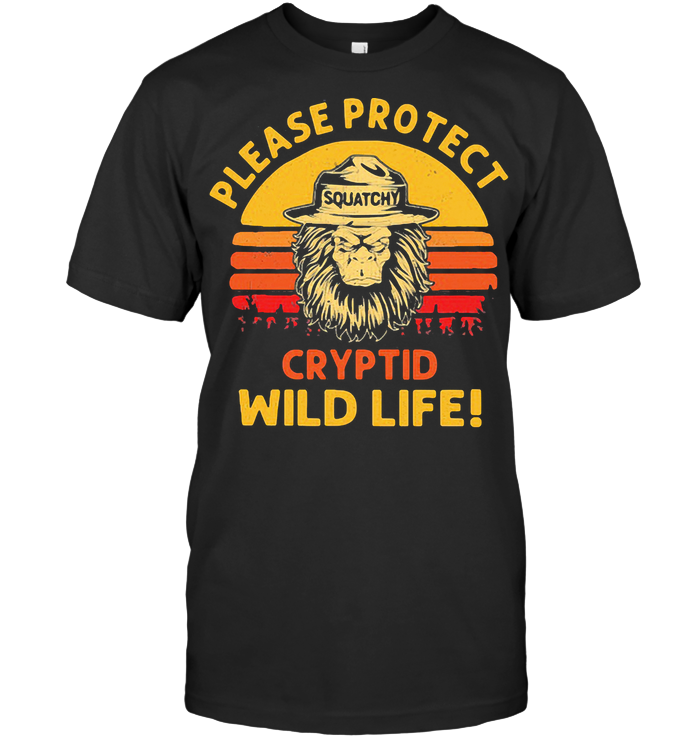 Bigfoot Please Protect Cryptid Wildlife Vintage Retro T Shirt Classic Men's T-shirt