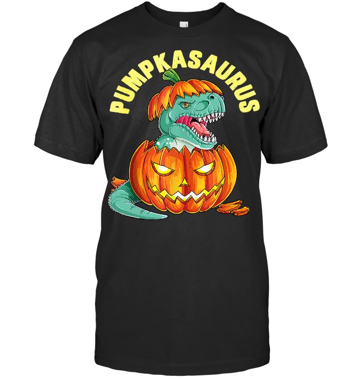 Pumpkasaurus Pumpkin Dinosaur Halloween T Shirt