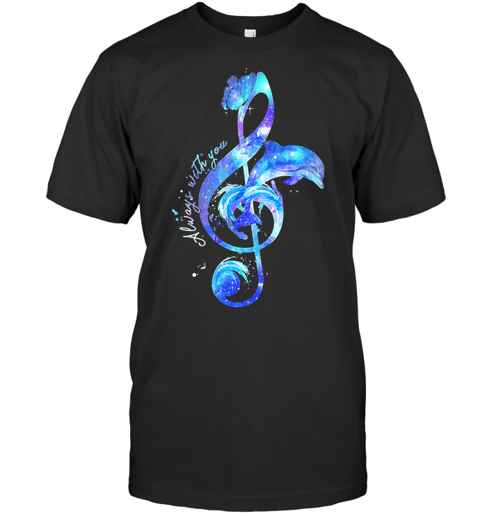 Dolphin Music Always With You Colorful T Shirt