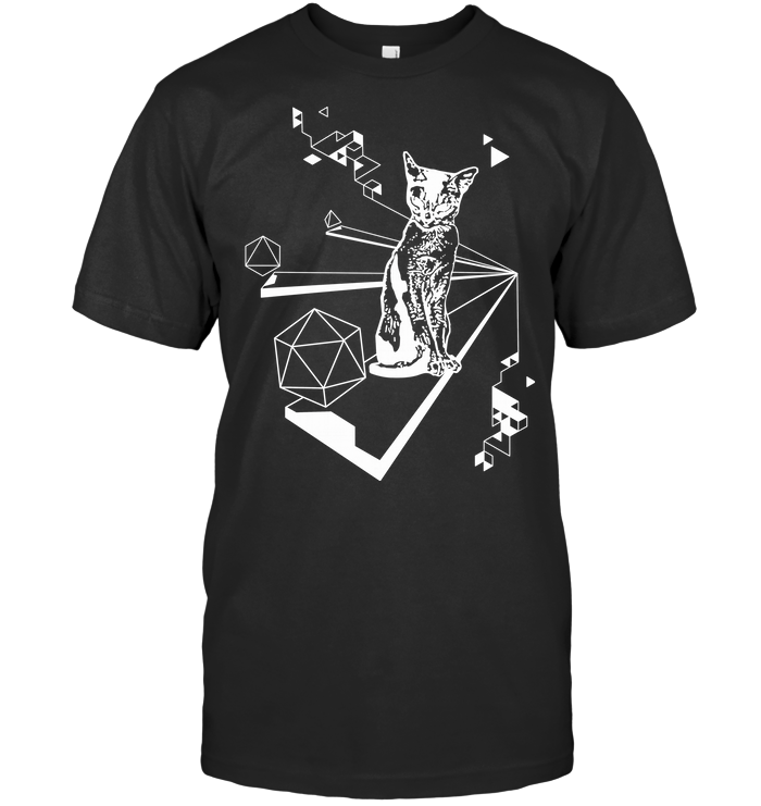 Equi Cat Eral Triangle Inverted T Shirt
