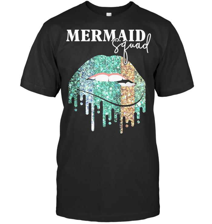 Mermaid Squad Sparkling Lips T Shirt