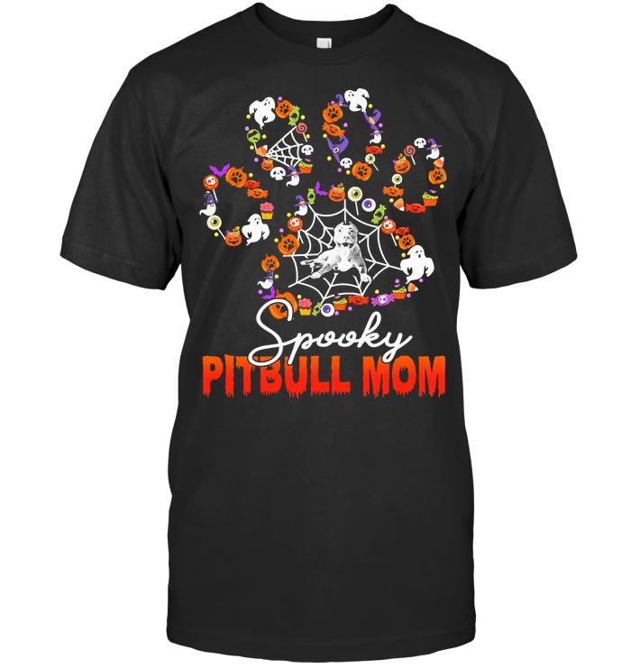 Spooky Pitbull Mom T Shirt