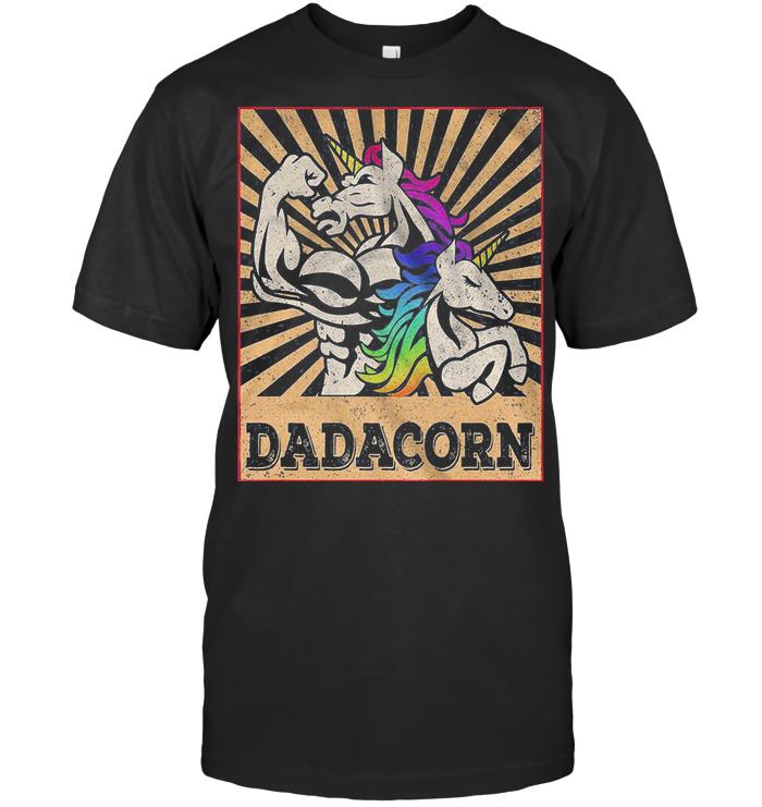 Dadacorn Happy Father's Day Unicorn T Shirt