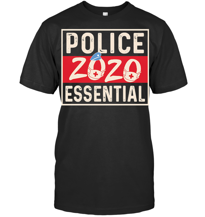 Police 2020 Essential Mask Covid 19 T Shirt