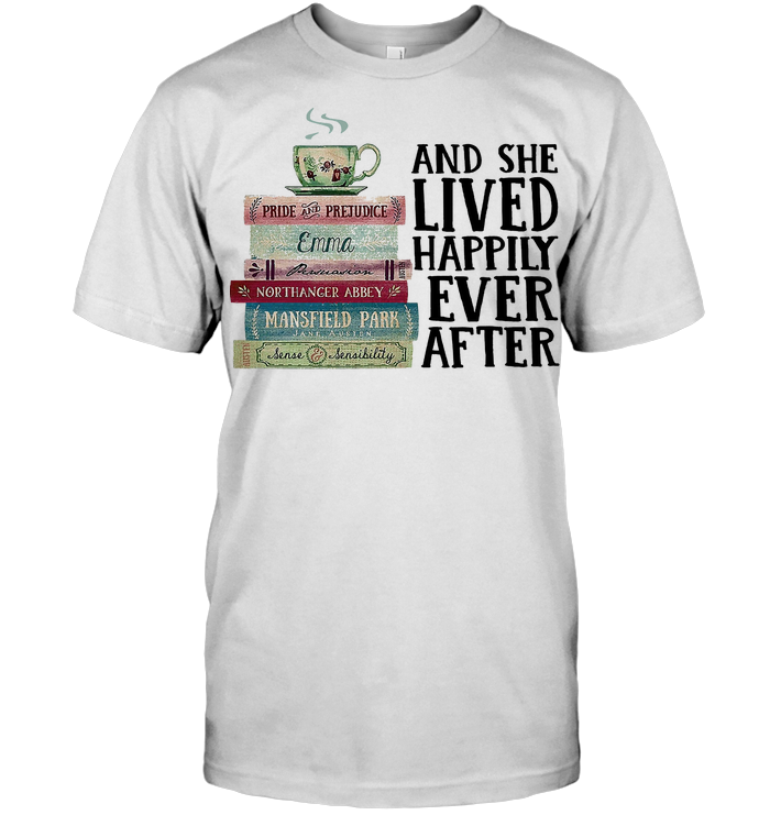 Reader And She Lived Happily Ever After T Shirt Classic Men's T-shirt