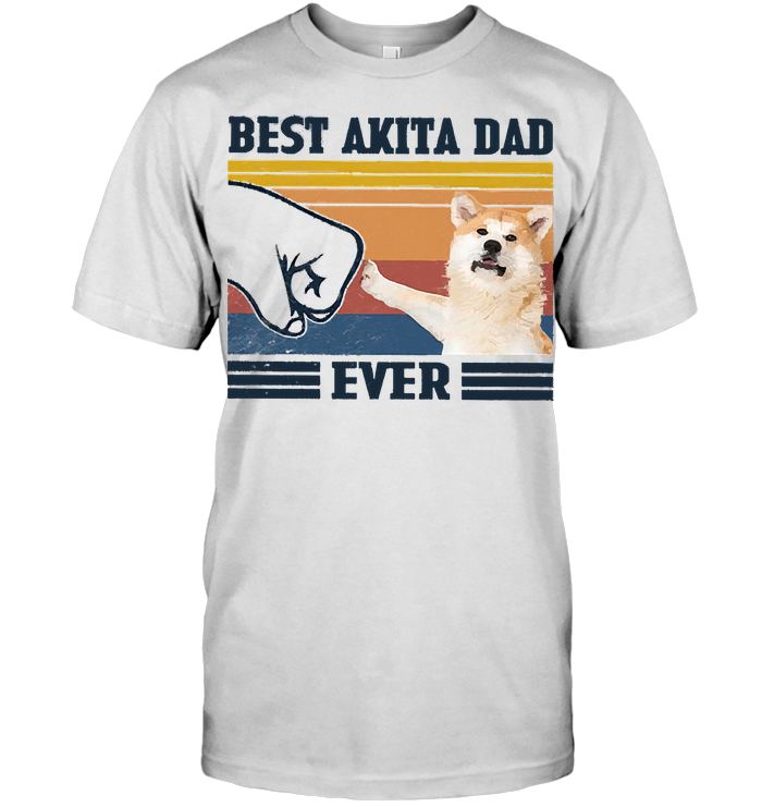 Father's Day Best Akita Dad Ever Vintage Fathers Day T Shirt