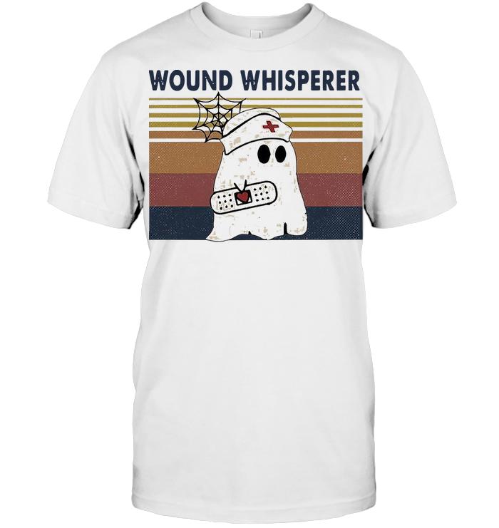 Nurse Halloween Wound Whisperer Vintage T Shirt Hoodie