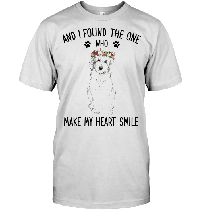 Golden Doodle I Found The One Who Make My Heat Smile T Shirt Classic Men's T-shirt