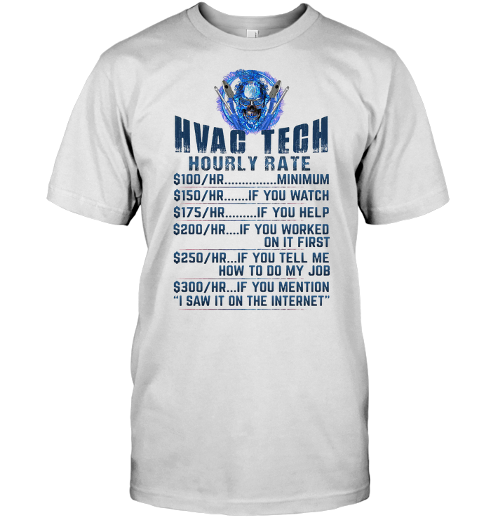 Hvag Tech Hourly Rate Skull T Shirt Classic Men's T-shirt