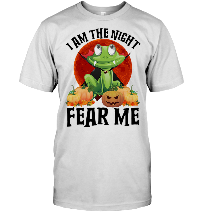 Frog I Am The Night Fear Me Blood Moon T Shirt