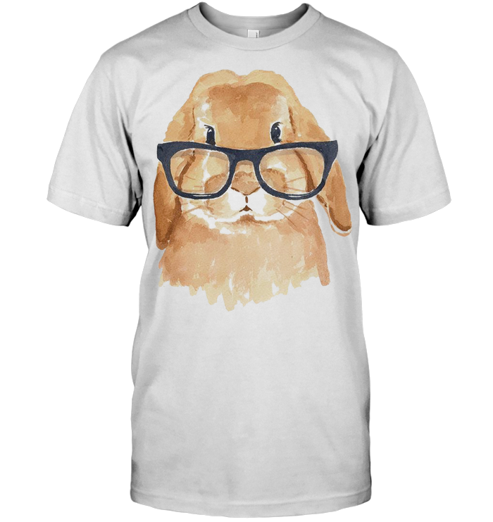 Cute Bunny Wear Glass T Shirt