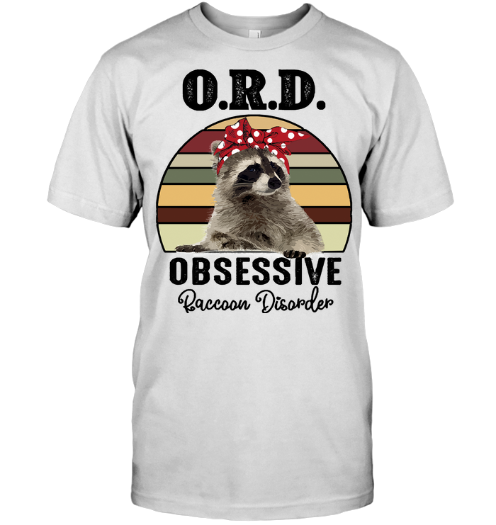 Ord Obsessive Raccoon Disorder Vintage T Shirt Classic Men's T-shirt