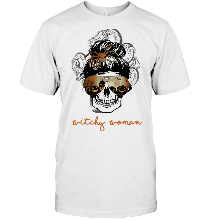 Witchy Woman Skull Halloween T Shirt