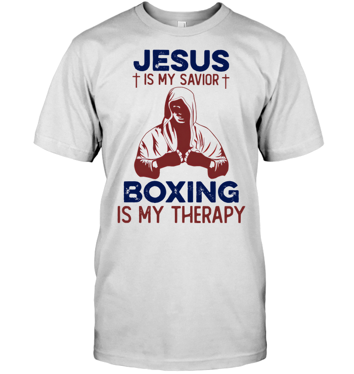Jesus Is My Savior Boxing Is My Therapy T Shirt Classic Men's T-shirt