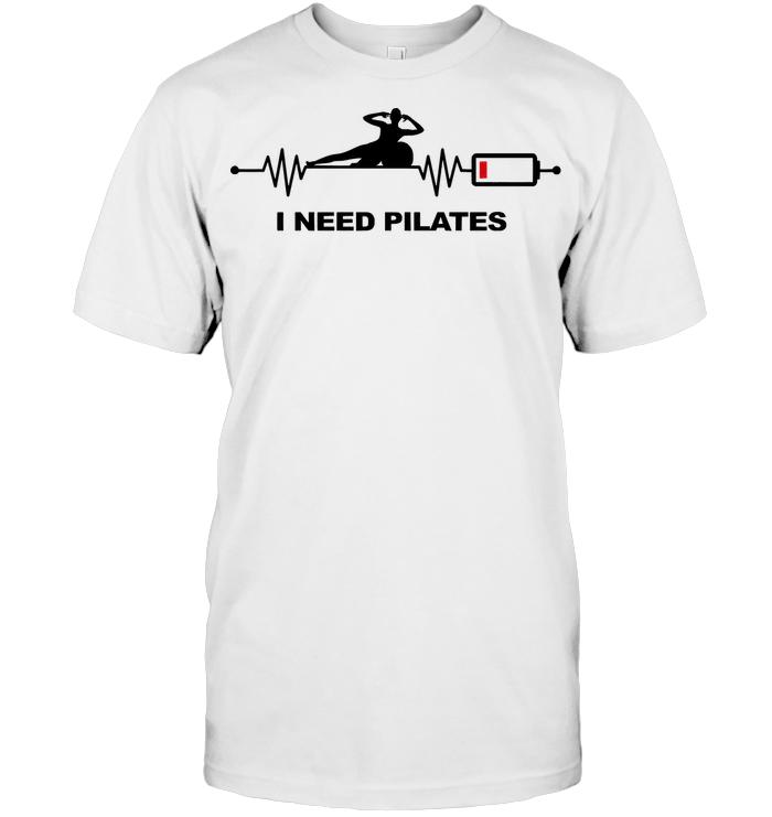 I Need Pilates Heartbeat Battery T Shirt