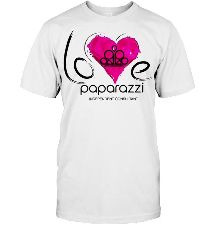 Love Paparazzi Independant Consultant Purple Heart T Shirt