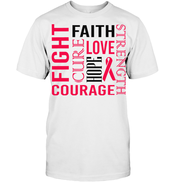 Fight Faith Hope Love Cure Courage Strength Substance Abuse Awareness Peach Ribbon Warrior T Shirt - from birthstonedeals.info 1