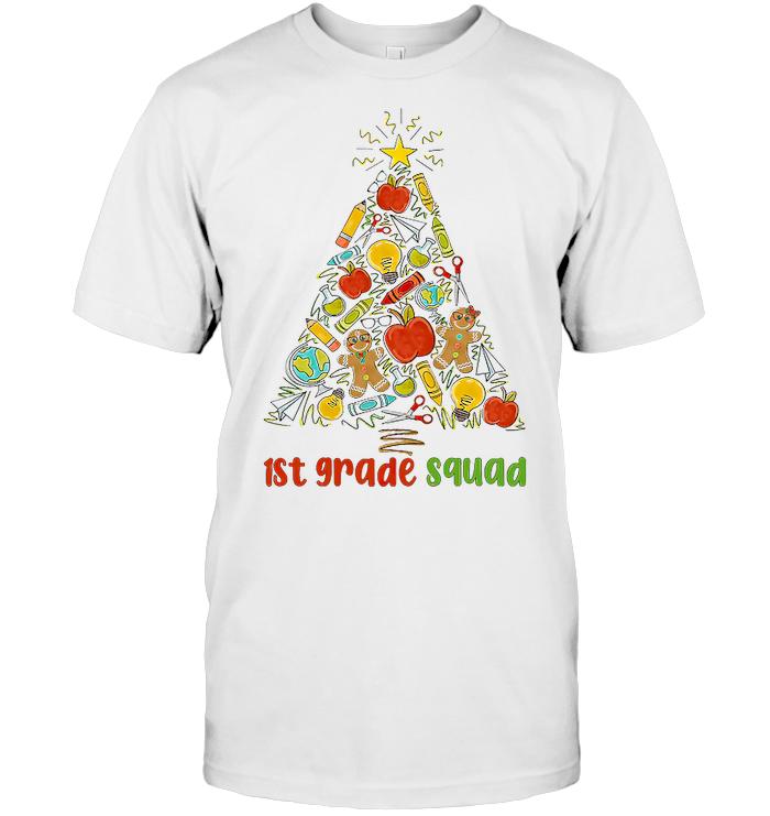 1st Grade Squad School Tools Christmas Tree T Shirt - from teechip.info 1