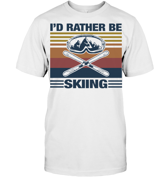 I'd Rather Be Skiing Vintage T Shirt Classic Men's T-shirt