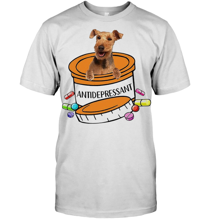 Welsh Terrier Dog Antidepressant T Shirt